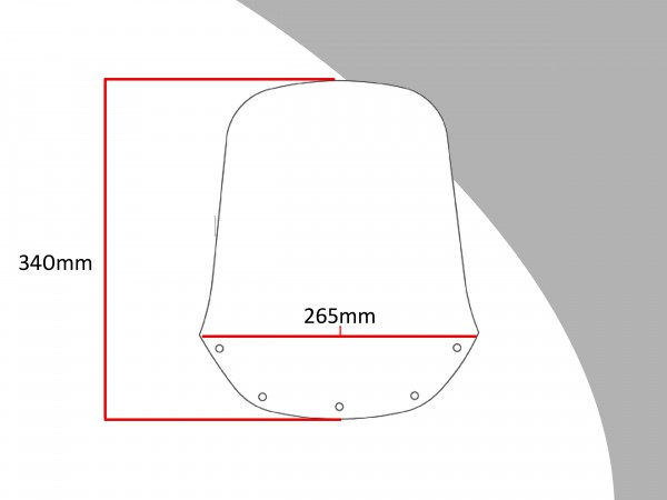 Powerbronze Verkleidungsscheibe Spoiler / Tourenform YAMAHA XTZ 660