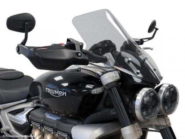 Powerbronze Windschild Triumph Rocket 3R & Rocket 3GT 475mm hoch